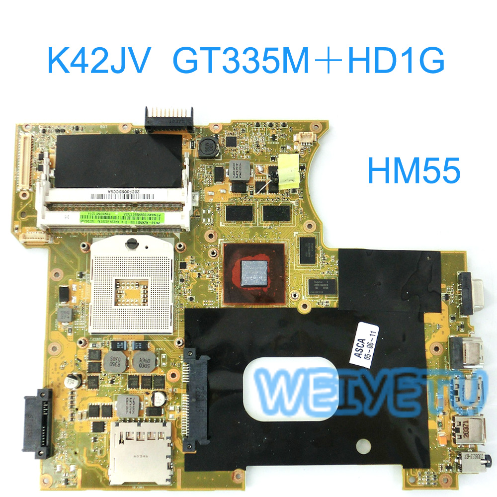 цена K42JV GT 335M 1GB mainboard REV2.2 For ASUS K42 A42J X42J K42J A40J K42JV Laptop motherboard 60-NZNMB1100Tested Working