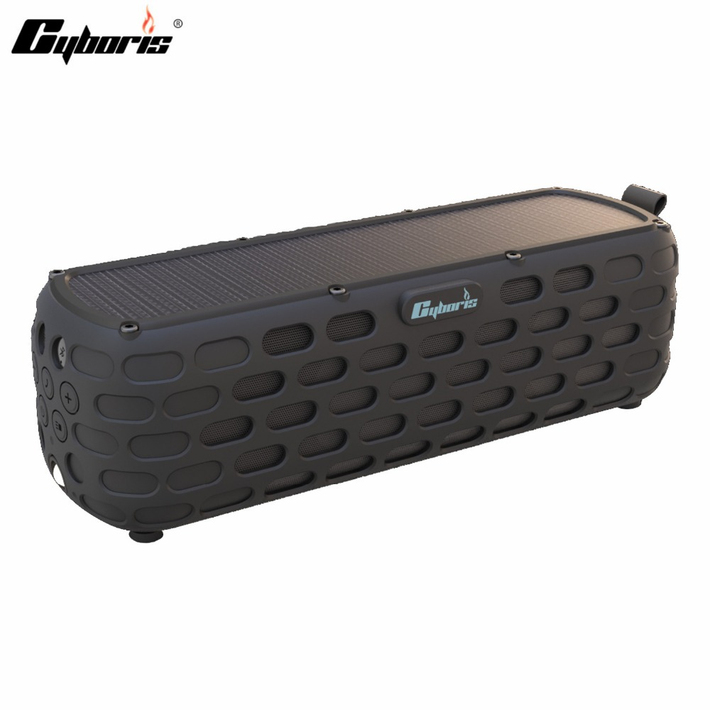 CYBORIS Solar Powered Bluetooth Speaker 30 Hours Playtime Portable New Arrival Wireless HiFi Speaker for Outdoors Waterproof wireless bluetooth speaker led audio portable mini subwoofer