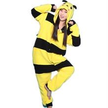 Winter Cute Bee Tracksuit Pajamas Soft Cartoon Costume Onesies Pajamas Combinaison Womens Pijamas Animal pijama feminino