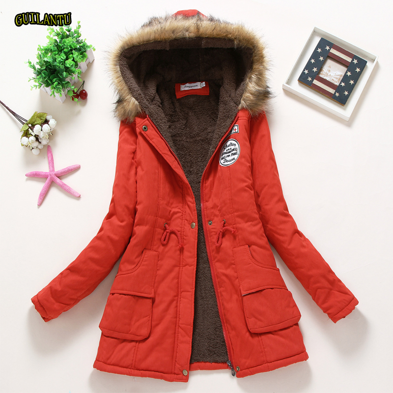Winter Jacket Women Faux Fur Collar Hooded   Parka   Mujer Plus Size 3xl Slim Warm Thick Cotton Padded Jacket Female Long Coat