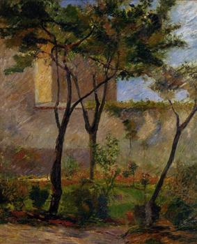 High quality Oil painting Canvas Reproductions Corner of the garden rue Carsal (1881) by Paul Gauguin hand painted