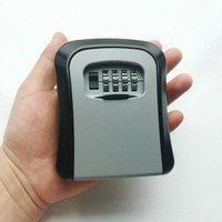 Key Safe Box Outdoor Digit Wall Mount Combination Password Lock Aluminum Alloy Material Keys Storage Box