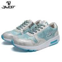 QWEST marki oddychające łuk ZIP TPR i sznurowane buty sportowe dla dzieci skórzane rozmiar 32-37 dzieci Sneaker dla dziewczynek 91P-XC-1344