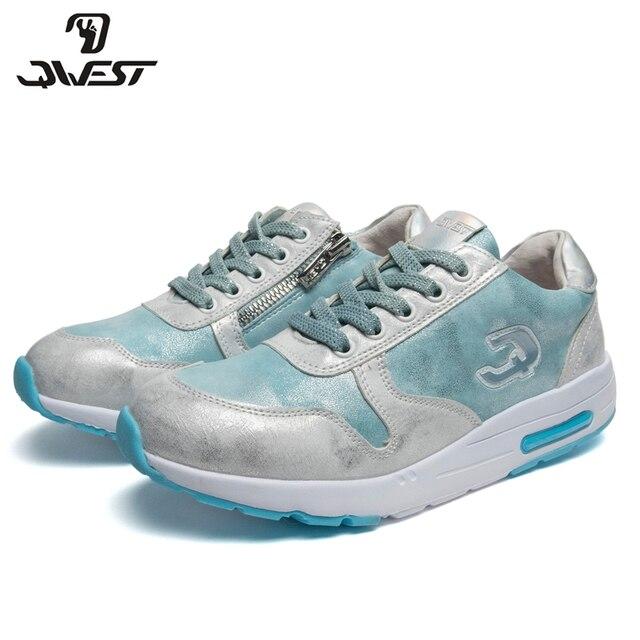 Кроссовки QWEST для девочек 91P-XC-1344, вид застежки – молния/шнурки, кожаная стелька, для спорта и отдыха, размер 32-37.