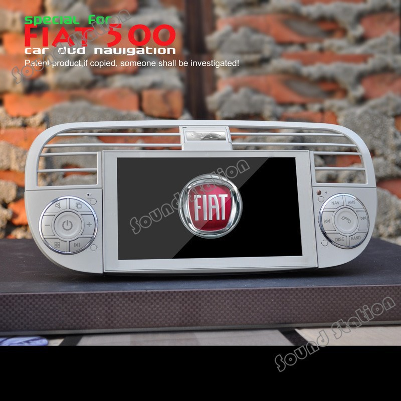 for fiat 500 abarth 2007 2008 2009 2010 2011 2012 2013 car dvd radio gps navigation multimedia. Black Bedroom Furniture Sets. Home Design Ideas