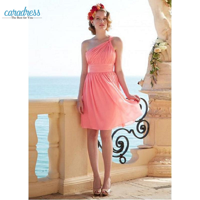 Popular coral wedding dresses buy cheap coral wedding for Coral bridesmaid dresses for beach wedding
