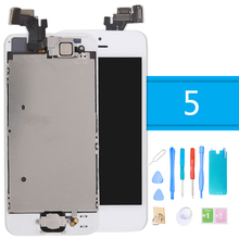 for iPhone 5 LCD Touch Display Digitizer Full Assembly Complete Screen Replacement 5G With Camera Button + Tools