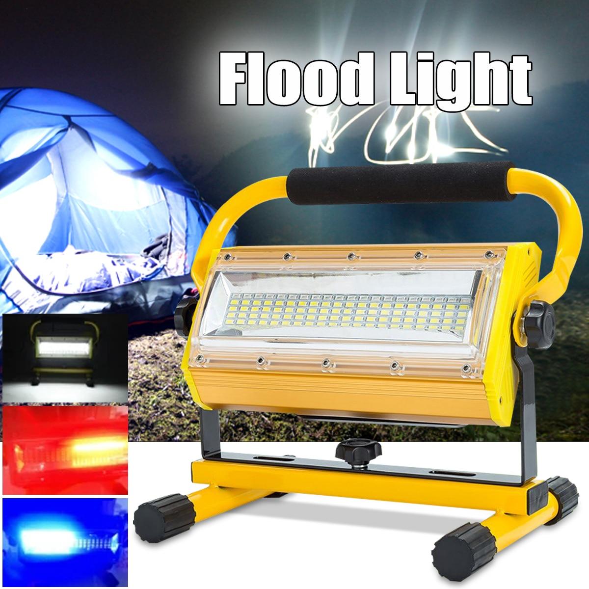 Lampe de travail portative Rechargeable de lampe-torche de tache de lumière d'inondation de 100 W 60 LED
