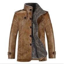 2019 artı boyutu 7xl 8xl kış yeni erkek kadife deri ceket standı yaka PU deri ceket erkek gevşek marka giyim
