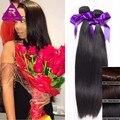 Бирманский девы волос прямой 3 шт. много 7а Необработанные человеческих волос weave queen hair products Свет/Темно-Коричневый Человеческих Волос расширения
