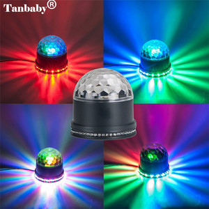 Image 4 - Mini Rotating Magic Disco Ball 48 LED RGB Stage Light Sound Actived Auto RGB  Strobe PAR Party Lights For DJ Show диско шар