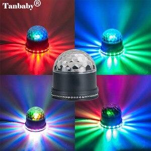 Image 4 - Mini Xoay Magic Disco Bóng 48 Led RGB Đèn Sân Khấu Âm Thanh Actived Tự Động RGB Nhấp Nháy Mệnh Đảng Đèn Cho DJ thể Hiện Диско Шар