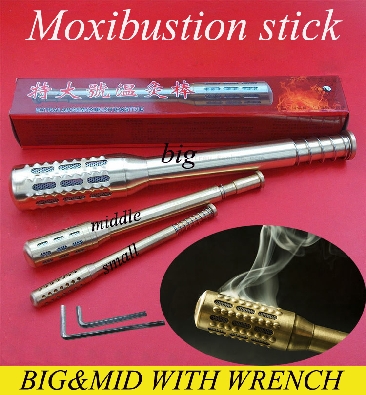 Moxa stick Copper facing moxibustion stick Facial Abdomen Moxibustion Massage Moxa Roll Burner Stick message Body Health Care health care moxa roller pure copper moxa stick facial abdomen moxibustion massage moxa roll burner stick body healthcare