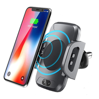 Fast Wireless Car Charger Automatic Sensor Car Mount Air Vent Phone Holder Cradle for iPhone 8/8 Plus/ X Samsung S7 S8 S9 Plus