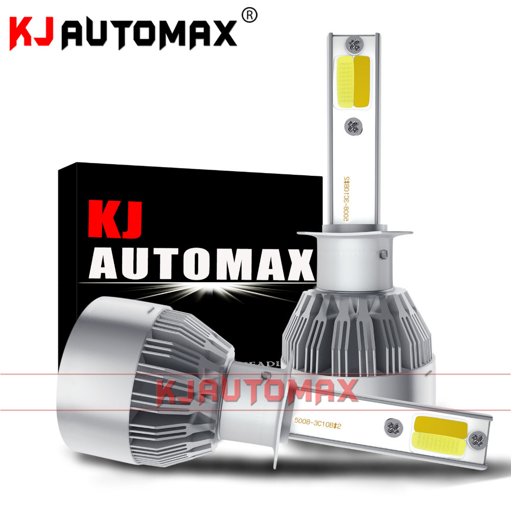 KJautomax 3 color LED headlights changing color white yellow warm amber H4 H7 LED H8/H11 HB3/9005 HB4/9006 changable