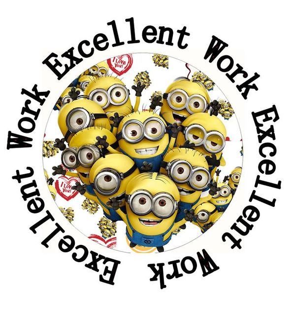 35 round minion 35 mm teacher rewards stickers for student project kid motivation rewards