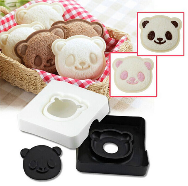 Smiling Panda Sandwich Maker 3D Toast Bread Molds DIY Caring Breakfast for Kids Styling Cooking Tools CT214