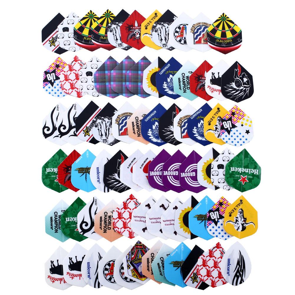 24 Sets 72pcs 2D Cool Bling Dart Flights Darts Tail Nice Darts Flight Dardos Feather Dardos Feather Outdoor Wing Tail Mixed