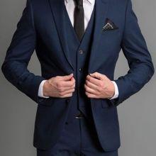 На заказ 3 шт костюмы мужские свадебные костюмы смокинги для жениха Формальные костюмы для торжественных случаев