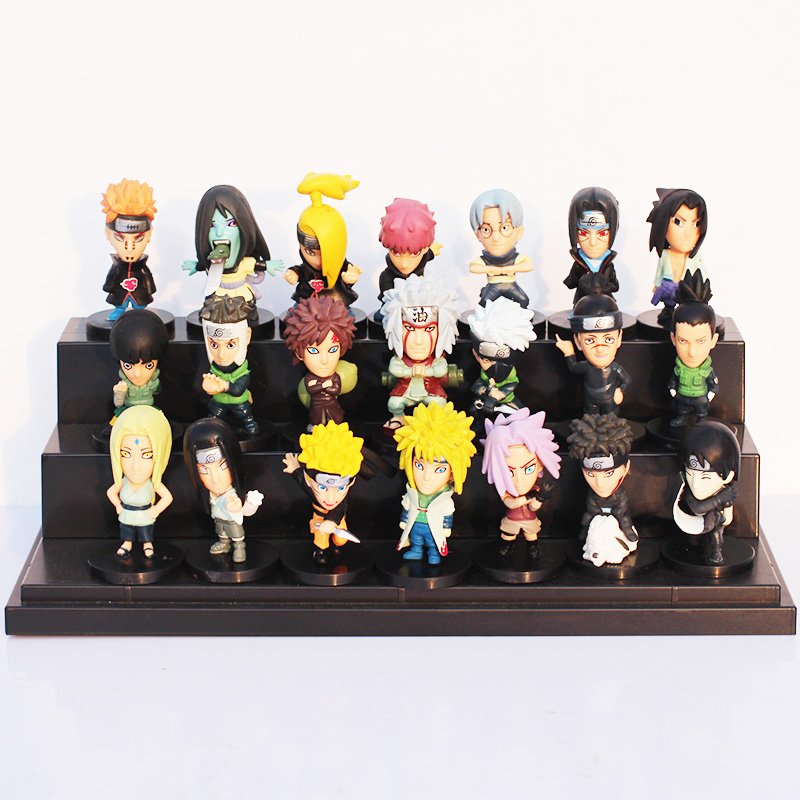 21pcs/set Japanese Anime Naruto PVC Action Figure Toys Gaara Uzumaki Sasuke Orochimaru Figures 5~6cm Free Shipping anime naruto pvc action figure toys q version naruto figurine full set model collection free shipping