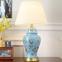 Керамика настольная лампа для современной LED настольная лампа настольная кровать свет Luminaria Меса LED настольная лампа прикроватная лампа све