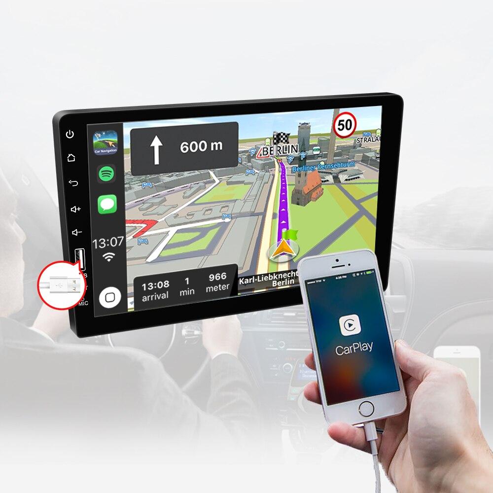 9''10. 1 pollici car multimedia player 1 din car radio Bluetooth USB della macchina fotografica di inverso MP5 Lettore Autoradio NESSUN android - 5