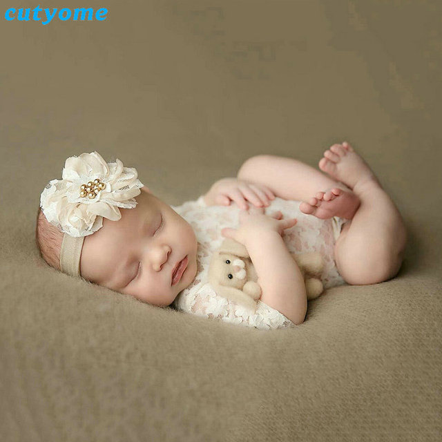 aliexpress com buy cutyome newborn baby girls lace rompers white