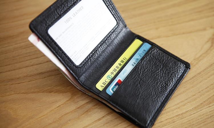 LANSPACE carteras de cuero para hombres Bolso de marca original con - Monederos y carteras - foto 4