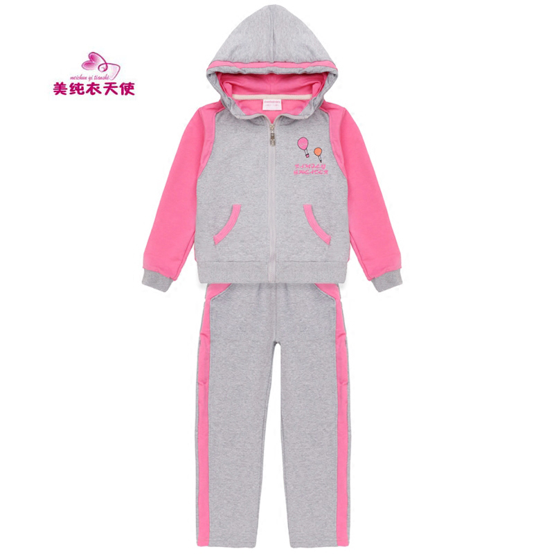Girls Clothing Suit 2017 Spring Autumn Kids Sport Suits For Girls Cotton Casual Hoodies Tracksuits 4 5 6 7 8 9 10 11 12 Years