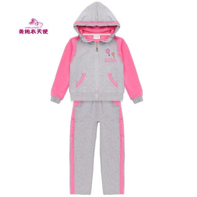 9f62823b637e Комплект одежды для девочек, весна-осень 2017, детские спортивные костюмы  для девочек,