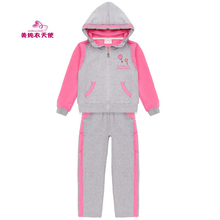 Girls Clothing Suit 2017 Spring Autumn Kids Sport Suits For Girls Cotton Casual Hoodies Tracksuits 4 5 6 7 8 9 10 11 12 Years стоимость
