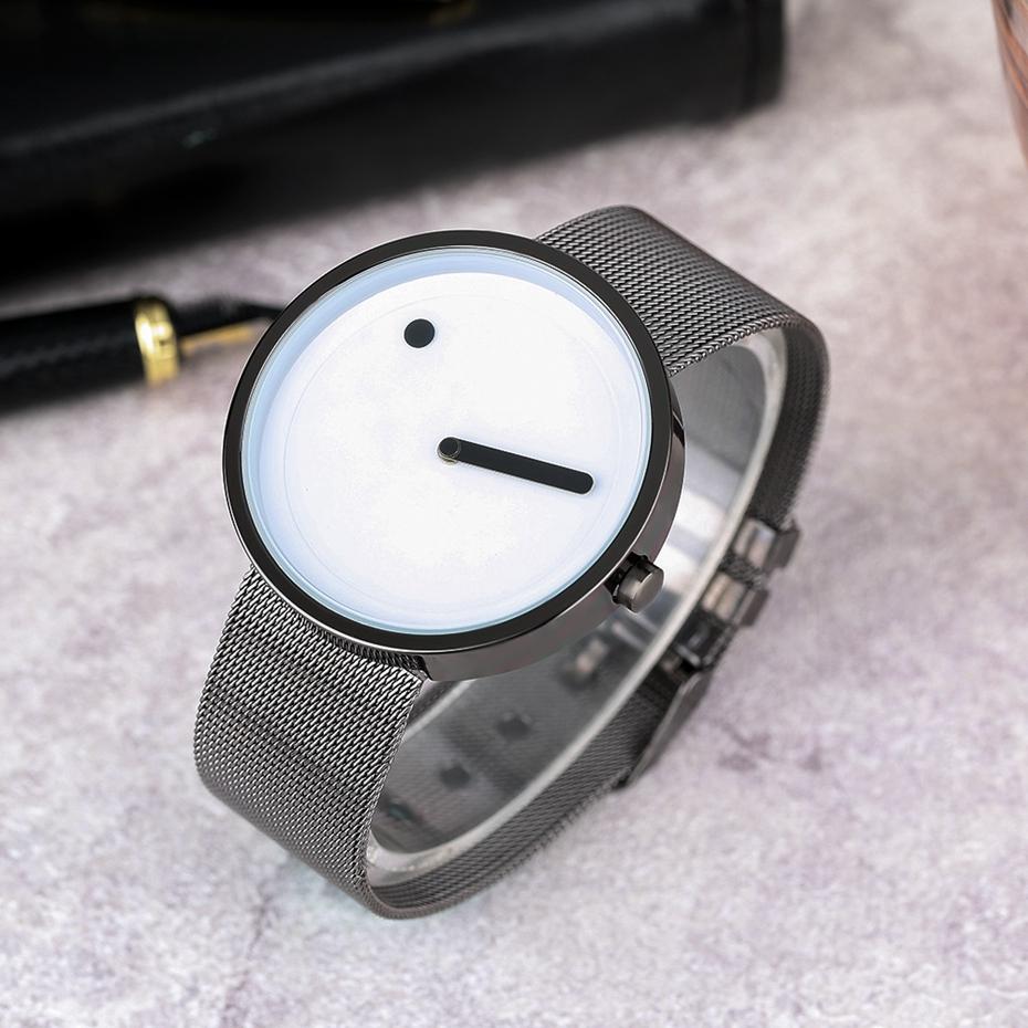 Fashion Mens Unique Pointer Face Sport Watch Luxury Super Slim Mesh Stainless Steel Band Clock Casual Women Quartz Wrist Watch 2017 Christmas Gifts (13)