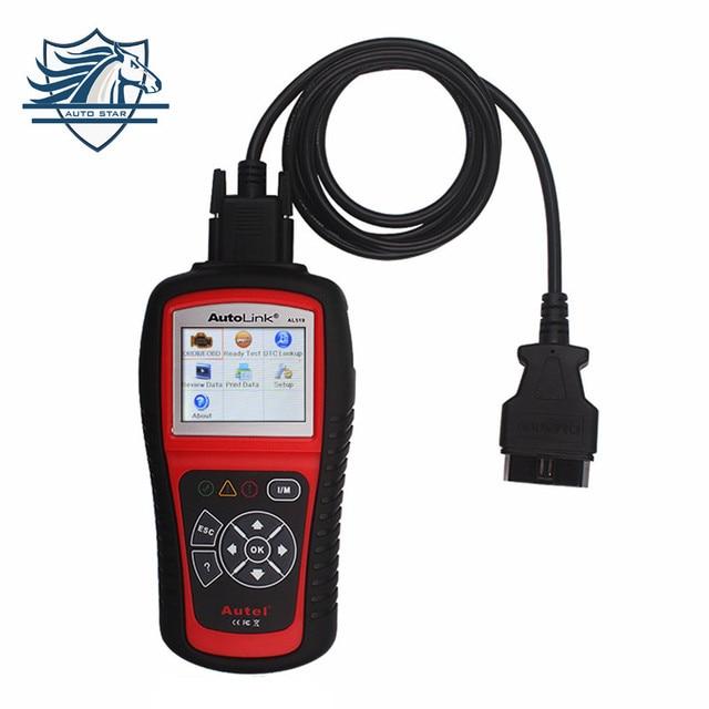 100% Original OBD2 Scanner Fault Code Reader AUTEL AutoLink AL519 para Todos Os Carros Escaner OBD2 CAN EOBD JOBD Scanner de AUTEL AL519