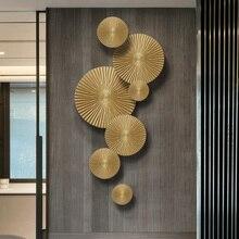 Роскошный Ресторан Настенные Золотые украшения из цельного дерева фрески украшения ремесла дома крыльцо 3D стерео стены диван фон аксессуары