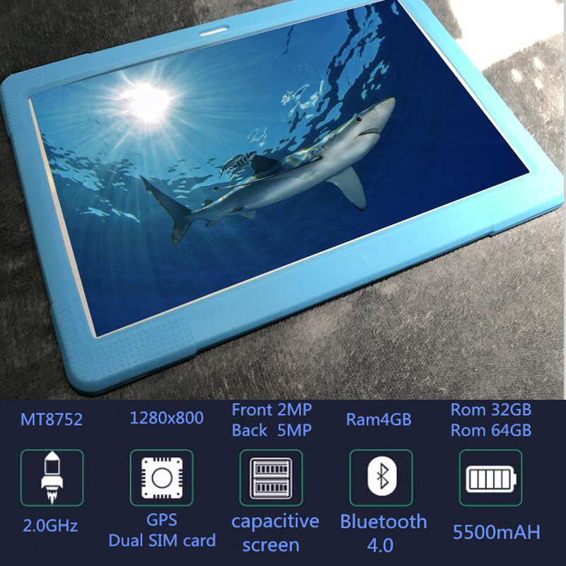 """Free Gift Silicone Case Kids Tablet Pc 10.1"""" Inch  Android 8.0,4gb+32 Gb Dual Camera Front 2mp+ 5mp Bluetooth Wifi Octa Core"""