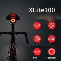 Xlite100 Auto Start/Stop e Sensor De Freio Luz Traseira Luz Traseira Montagem de Luz Traseira Da Bicicleta Da Estrada Da Bicicleta Inteligente USB Recarregável Flashligh