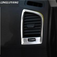 Автомобиль-Стайлинг Нержавеющаясталь отделкой Интимные аксессуары интерьер выходе украшение кольцо 2 шт./компл. для Volvo XC60 Бесплатная доставка! для 2010-2017