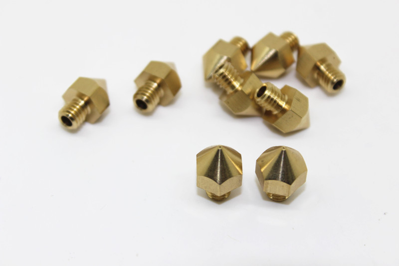 Extrusion Head Hotend M6 Nozzle 03/0.4/0.5 For Ultimaker 3D Printer 1.75/ 3mm Filament запчасти для принтера 3d printer accessories feed nozzle throat m6 20mm 10pcs 3d ultimaker 3 3d m6 20 3d printer feed throat ultimaker printheads for 3mm supplies