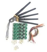 5 ADET 2.4 Ghz Kablosuz DMX 512 2 in 1 Verici ve Alıcı PCB Modülleri Kurulu Anten ile LED Denetleyici wifi alıcısı