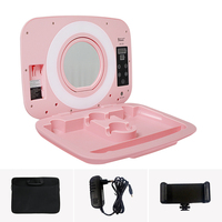 Yidoblo AS 20 make up ring lamp box with handbag Dimmable 2800 9900K bio color ring light box touch screen make up box