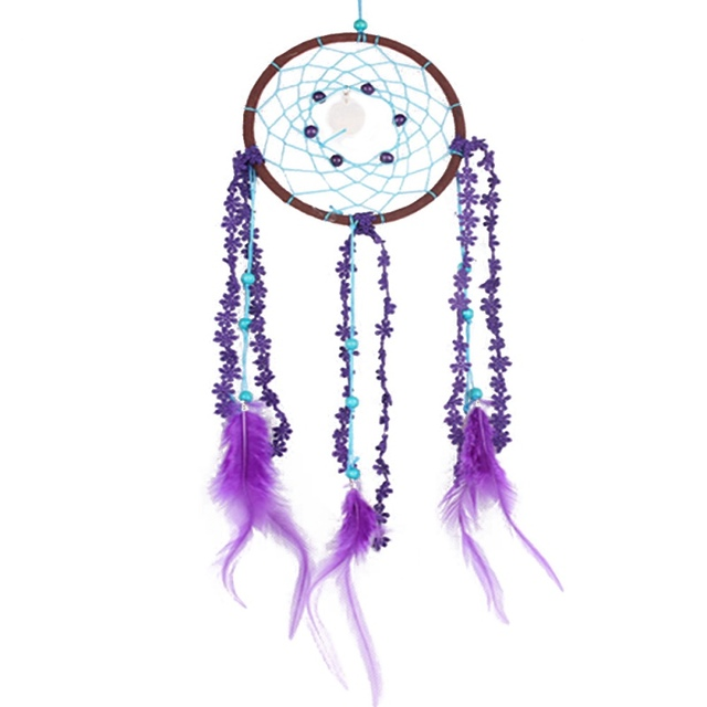 Home Decor Handmade Dream Catcher Net With feathers Hanging Decoration Decor Craft Gift