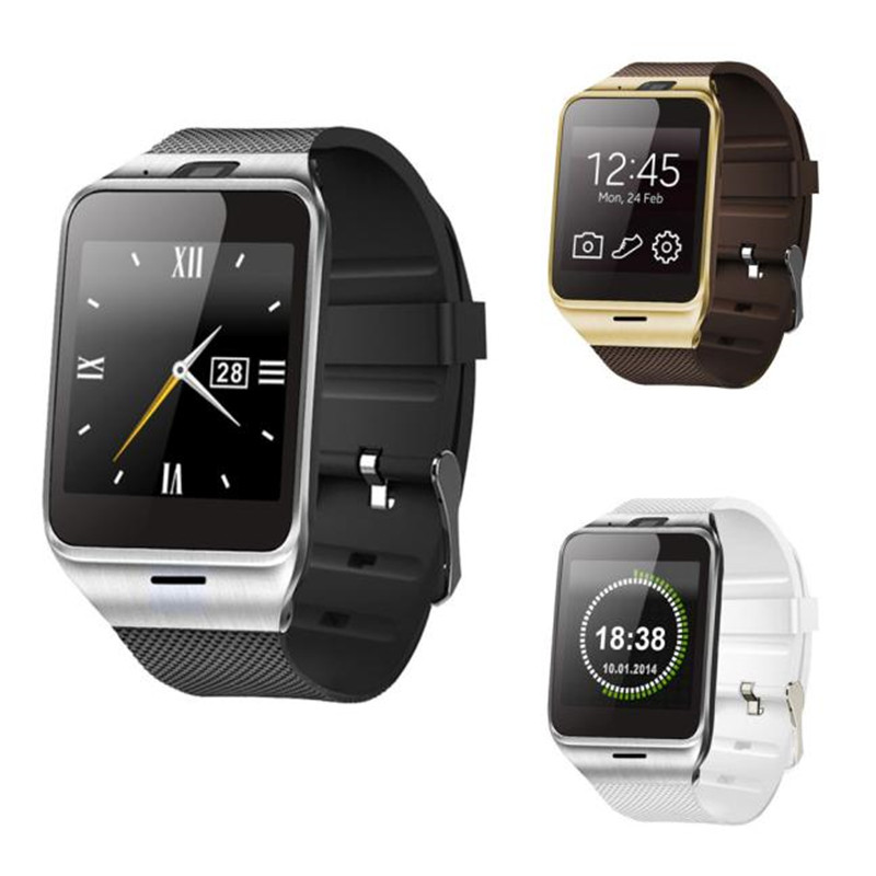 2016 New Smart With Watch GSM NFC Camera Bluetooth Smart Sports Wrist Watch Phone Heart Rate For Samsung iPhone Wristwatch gt08 1 54 mtk6260a nfc bluetooth watch hd tft smart wrist strap