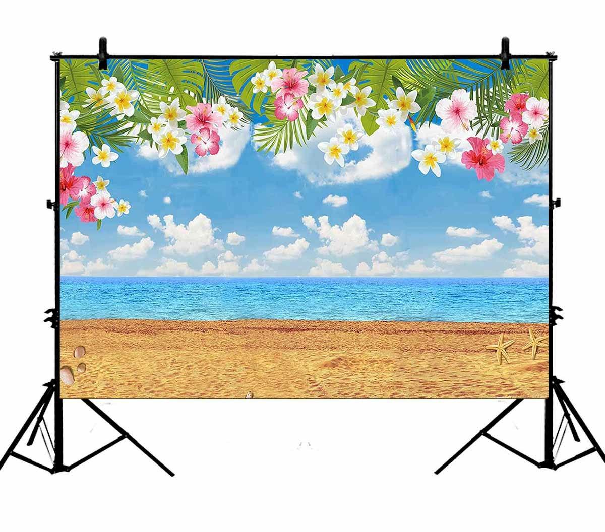 5x7ft Тропический гавайский Летний Пляжный праздник день рождения полиэстер фото фон портретный фон