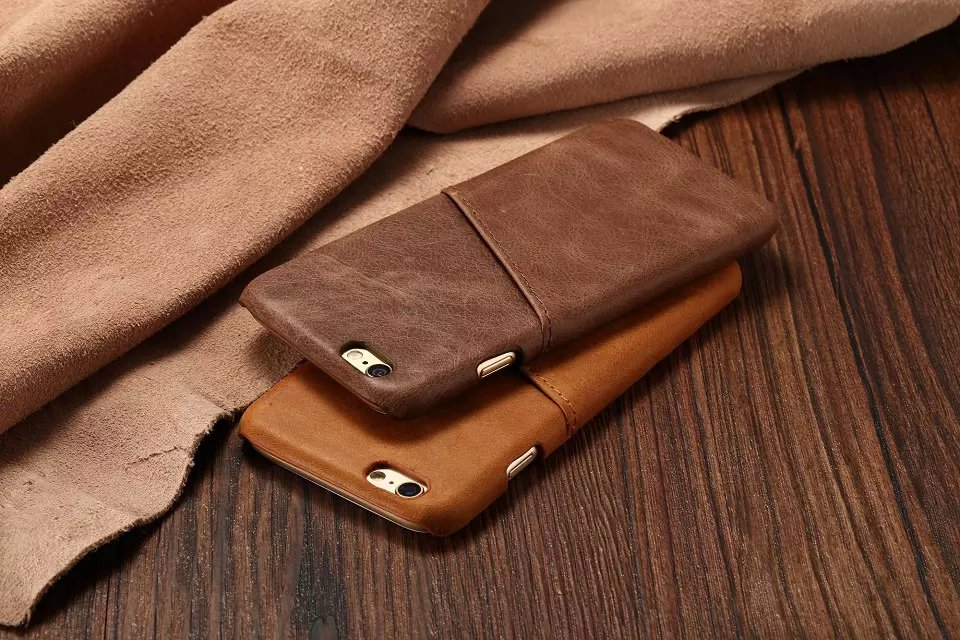 Luxury Retro business card holder genuine cow leather back case for ...
