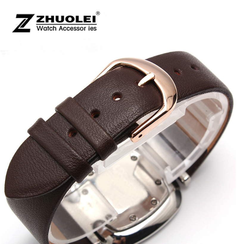 Watch Strap 16mm 18mm 20mm 22mm Genuine Leather Strap Steel Buckle Men Women Wrist Watch Band Soft стоимость