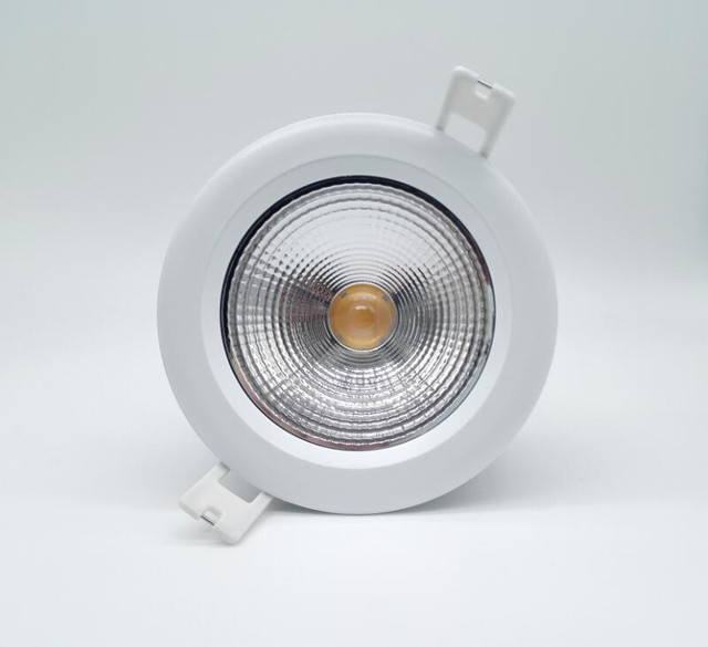 Free shipping 15w ip65 waterproof cob led ceiling down light round free shipping 15w ip65 waterproof cob led ceiling down light round recessed downlight led waterproof aloadofball Image collections