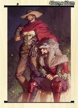 Pergaminho de parede Poster Overwatch McCree Hanzo jogo home decor 80×60 cm