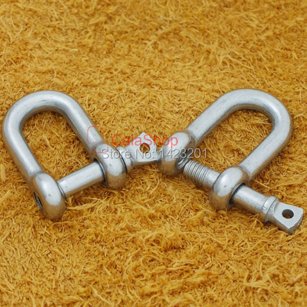 Buckles & Hooks Lot Stainless Steel D Shackles For Paracord Bracelet U F186f3 100% Original 4mm 3/16 10 Pcs