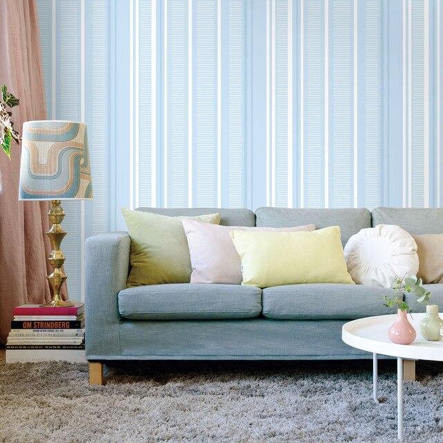 Gut gemocht Blau Weiß Vertikale Gestreifte Tapete Für Jungen Schlafzimmer IZ97