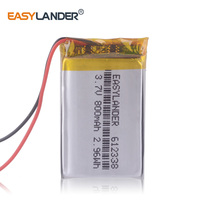 612338 3,7 V 800mAh Li-Polymer Batterie Für MP4 GPS spielzeug dvr570 FD6SG hd50G TEXET FHD-570 DVR dvr-3gp gmini HD50G ACV GQ7